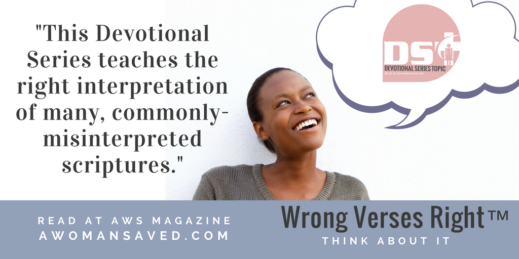 Wrong Verses Right Added to the Devotional Series Topic Page
