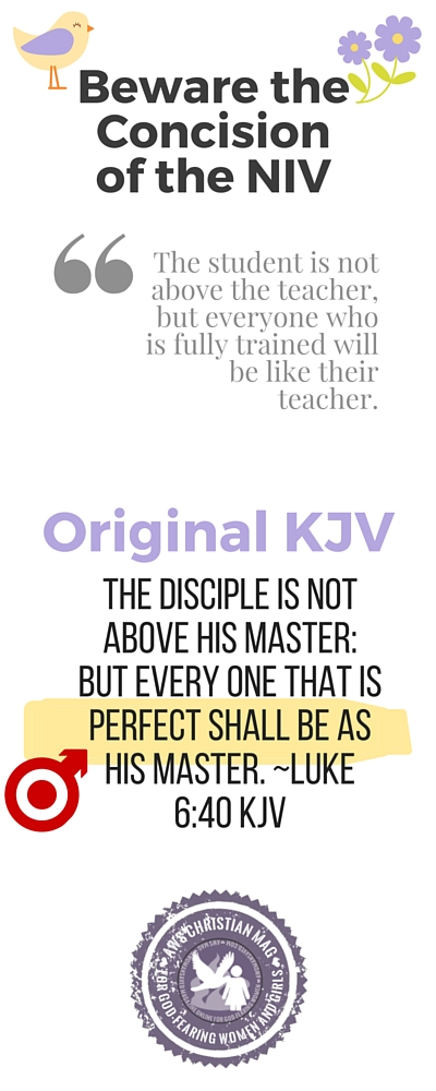 """""""...but everyone that is perfect shall be as his master."""""""